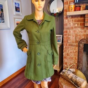 Tulle olive green pea coat